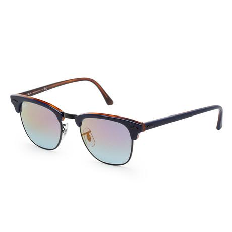 Unisex RB3016-1278T649 Sunglasses // Havana Red + Blue Mirror + Fuchsia Gradient