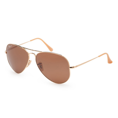 Unisex RB3689-90644762 Polarized Sunglasses // Gold + Brown