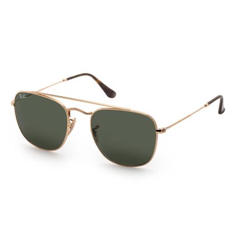 Men's RB3557-001-54 Sunglasses // Gold + Green