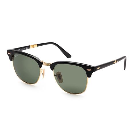 Unisex RB2176-901-51 Sunglasses // Black + Crystal Green