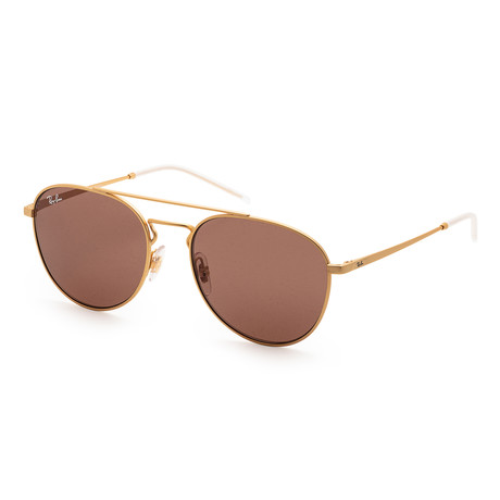 Unisex RB3589-90137355 Sunglasses // Rubber Gold + Brown