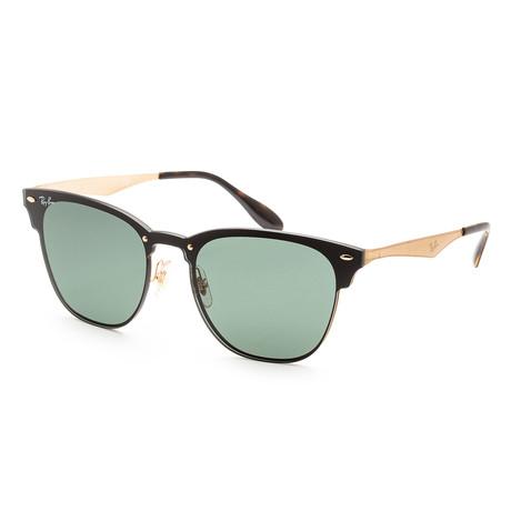Unisex RB3576N-043-7147 Sunglasses // Brushed Gold + Dark Green