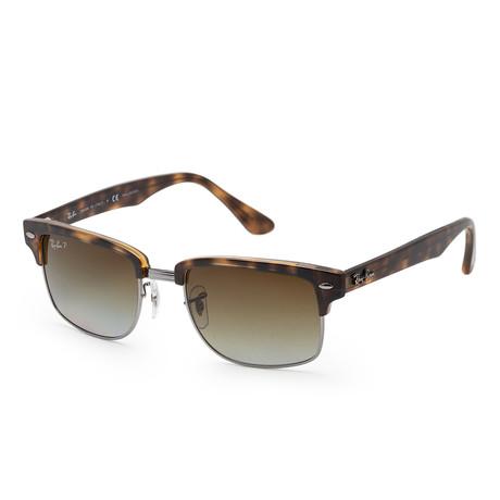 Men's RB4190-878-M2 Polarized Sunglasses // Demi Gloss Havana +Gradient Brown