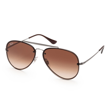 Unisex RB3584N-004-1361 Sunglasses // Gunmetal + Dark Brown Gradient