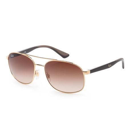 Men's RB3593-001-1358 Sunglasses // Gold + Brown Gradient