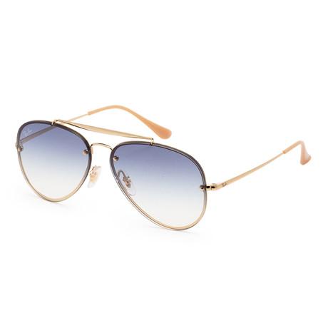 Unisex RB3584N-001-1958 Sunglasses // Gold + Light Blue Gradient