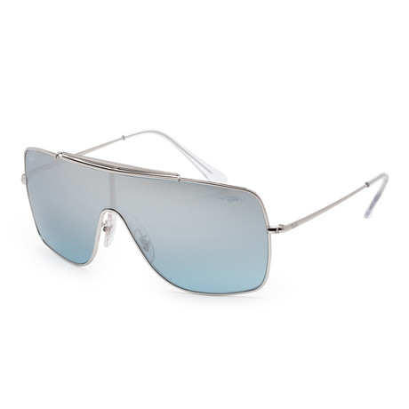 Men's RB3697-003-Y035 Sunglasses // Silver + Light Blue Mirror