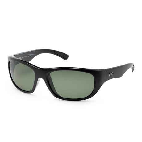 Men's RB4177-601-58 Polarized Sunglasses // Black + Green