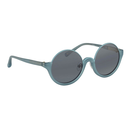 Women's PL70C5 Sunglasses // Frosted Blue + Navy Blue
