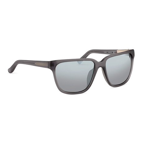 Women's PL85C5 Sunglasses // Frosted Gray + Smoke Mirror