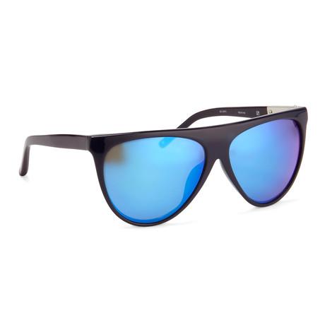 Women's PL17C8 Sunglasses // Navy + Blue Mirror