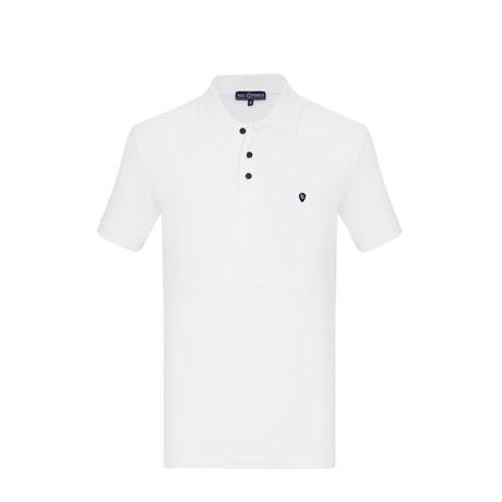 Mads Short Sleeve Polo Shirt // White (S)