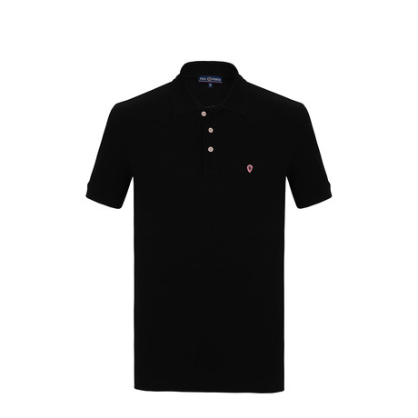 Chuck Short Sleeve Polo Shirt // Black (S)