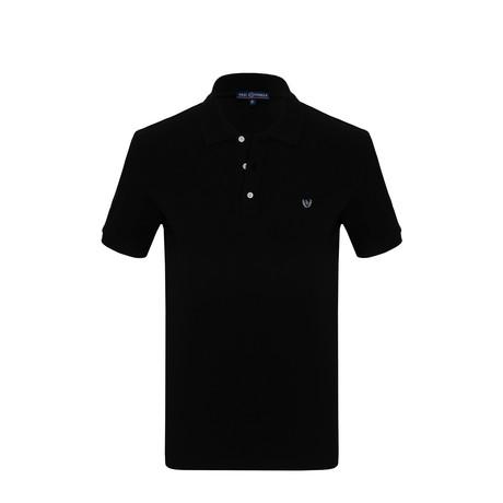 Broderek Short Sleeve Polo Shirt // Black (S)