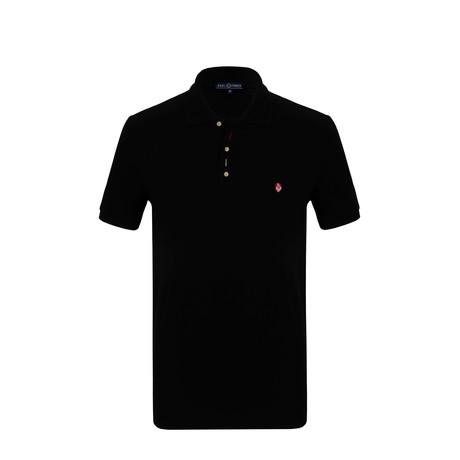 Chasen Short Sleeve Polo Shirt // Black (S)