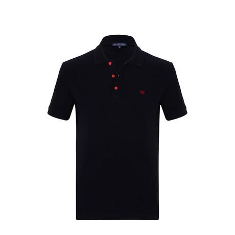 Jeff Short Sleeve Polo Shirt // Navy (S)