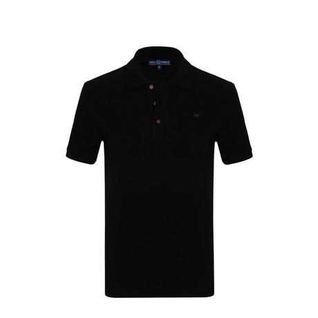 Harry Short Sleeve Polo Shirt // Black (S)