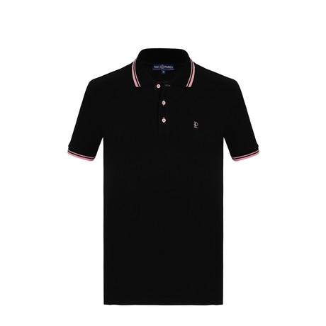 Paul Short Sleeve Polo Shirt // Black (S)