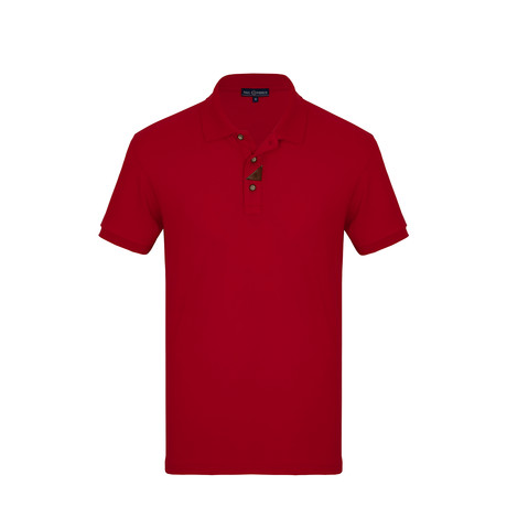 Tim Short Sleeve Polo Shirt // Red (S)