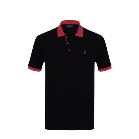 Neo Short Sleeve Polo Shirt // Navy (S)