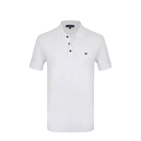 Austin Short Sleeve Polo Shirt // White (S)