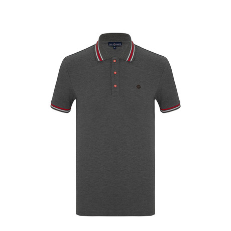 Henry Short Sleeve Polo Shirt // Anthracite (S)