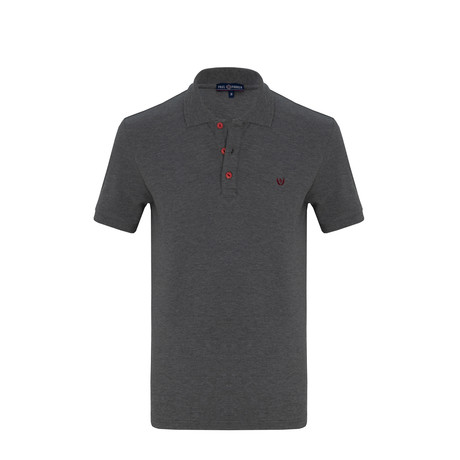Leon Short Sleeve Polo Shirt // Anthracite (S)