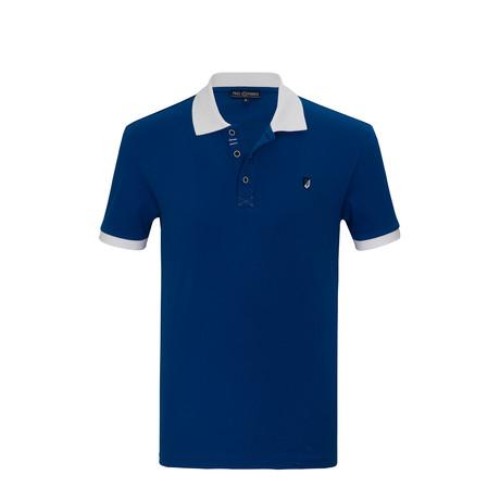 Jerry Short Sleeve Polo Shirt // Sax (S)