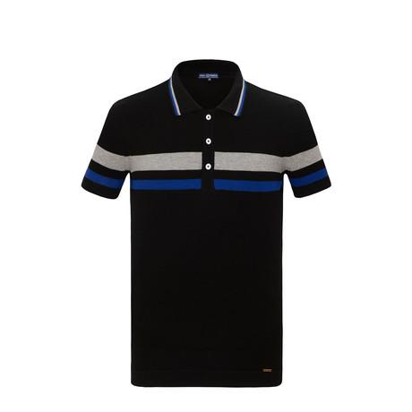 Michael Short Sleeve Polo Shirt // Black (S)