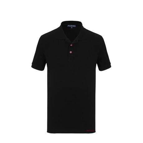 Deacon Short Sleeve Polo Shirt // Black (S)