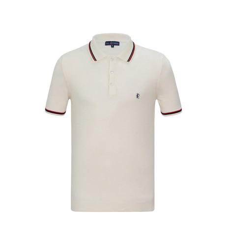 Zach Short Sleeve Polo Shirt // Ecru (S)