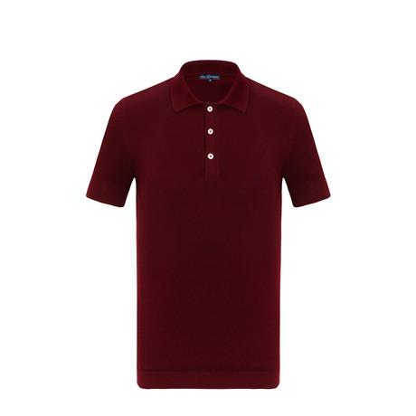 Leo Short Sleeve Polo Shirt // Bordeaux (S)
