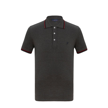 Logan Short Sleeve Polo Shirt // Gray (S)