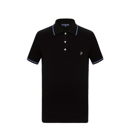 Peter Short Sleeve Polo Shirt // Black (S)