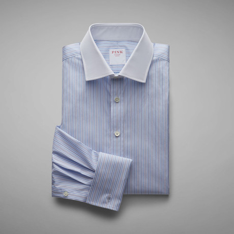 Jonathon Stripe Shirt // Pale Blue + White (US: 13L)