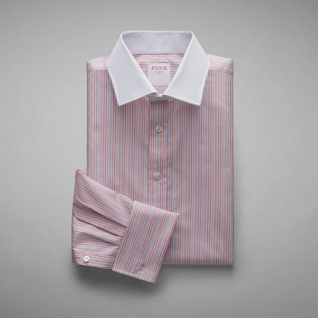 Andre Stripe Shirt // Pink + Blue (US: 13L)