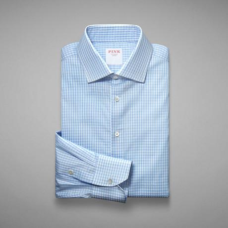 Piquet 100 Check Shirt // Pale Blue + White (US: 13L)