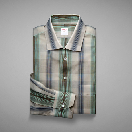 Provence Check Shirt // Pale Green + Blue (S)