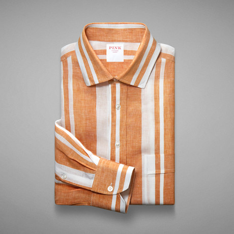Hollywood Wide Stripe Shirt // Yellow + White (S)
