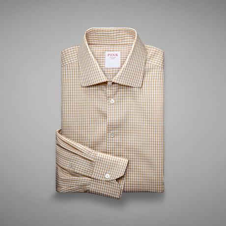 Piquet 100 Check Shirt // Pale Yellow + White (US: 13L)