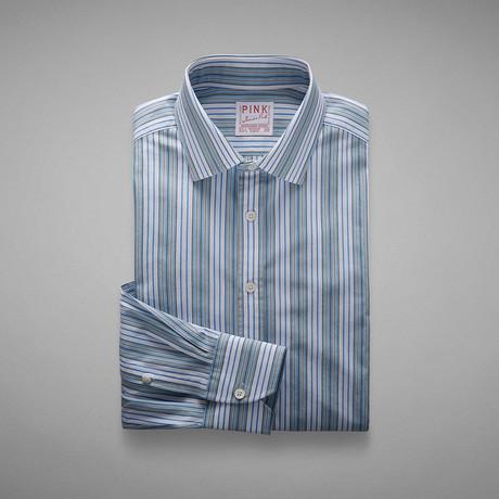 Wiltshire Double Stripe Shirt // Pale Blue + White (US: 13L)