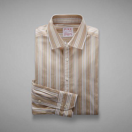 Wiltshire Double Stripe Shirt // Yellow + White (US: 13L)