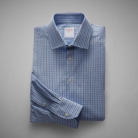 Grid Check Shirt // Pale Blue + Blue (US: 13L)