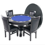 Nighthawk Poker Table + Dining Top // Suited Speed (Black)
