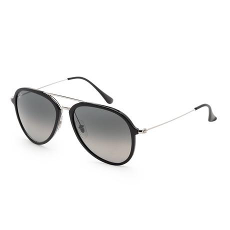 Unisex RB4298-601-71-57 Sunglasses // Black + Dark Gray Gradient