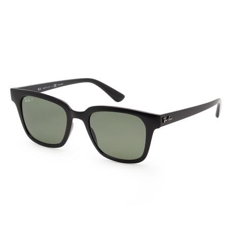 Unisex RB4323-601-9A51 Polarized Sunglasses // Black + Dark Green
