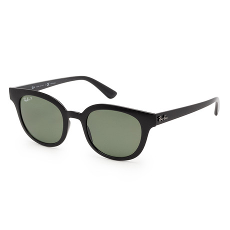 Unisex RB4324-601-9A50 Polarized Sunglasses // Black + Green