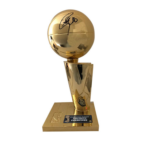 Steph Curry // Autographed Replica Larry O'Brien Trophy