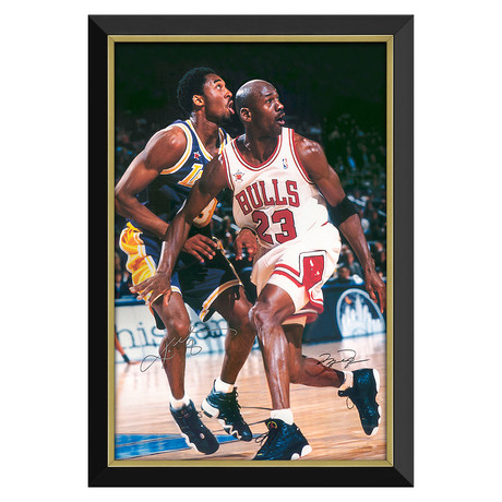 """Legends"" Jordan + Bryant // Framed Canvas Print // Facsimile Signatures"