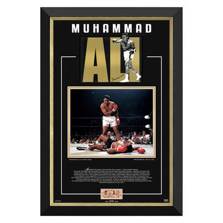Ali Vs Liston Tribute // Limited Edition Display // Facsimile Signature